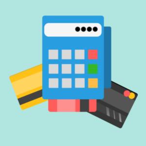 Billig betalingsterminal illustrasjon